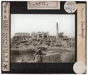 Großbilddia mit einer Ansicht von Karnak